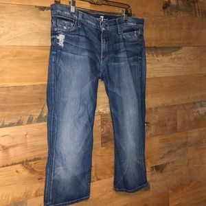 7 for all Mankind Josephina Skinny Crop Jeans 28